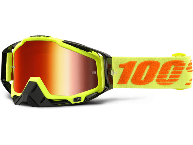 100% Racecraft Anti Fog Mirror Goggles, attack yellow